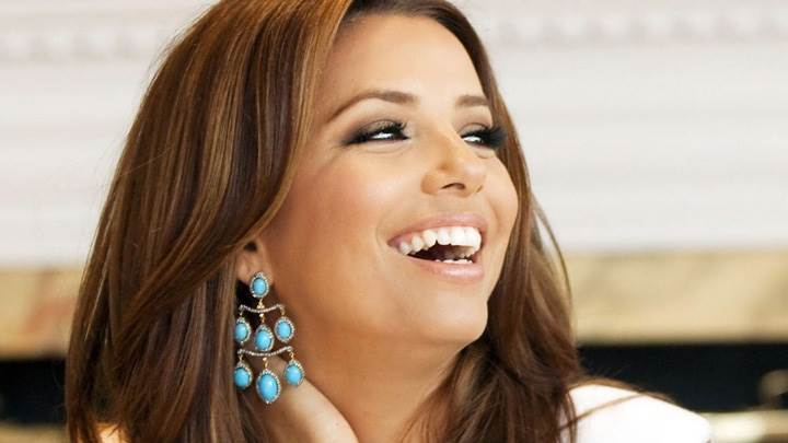 Eva Longoria Sweet Laughing Face Photoshoot